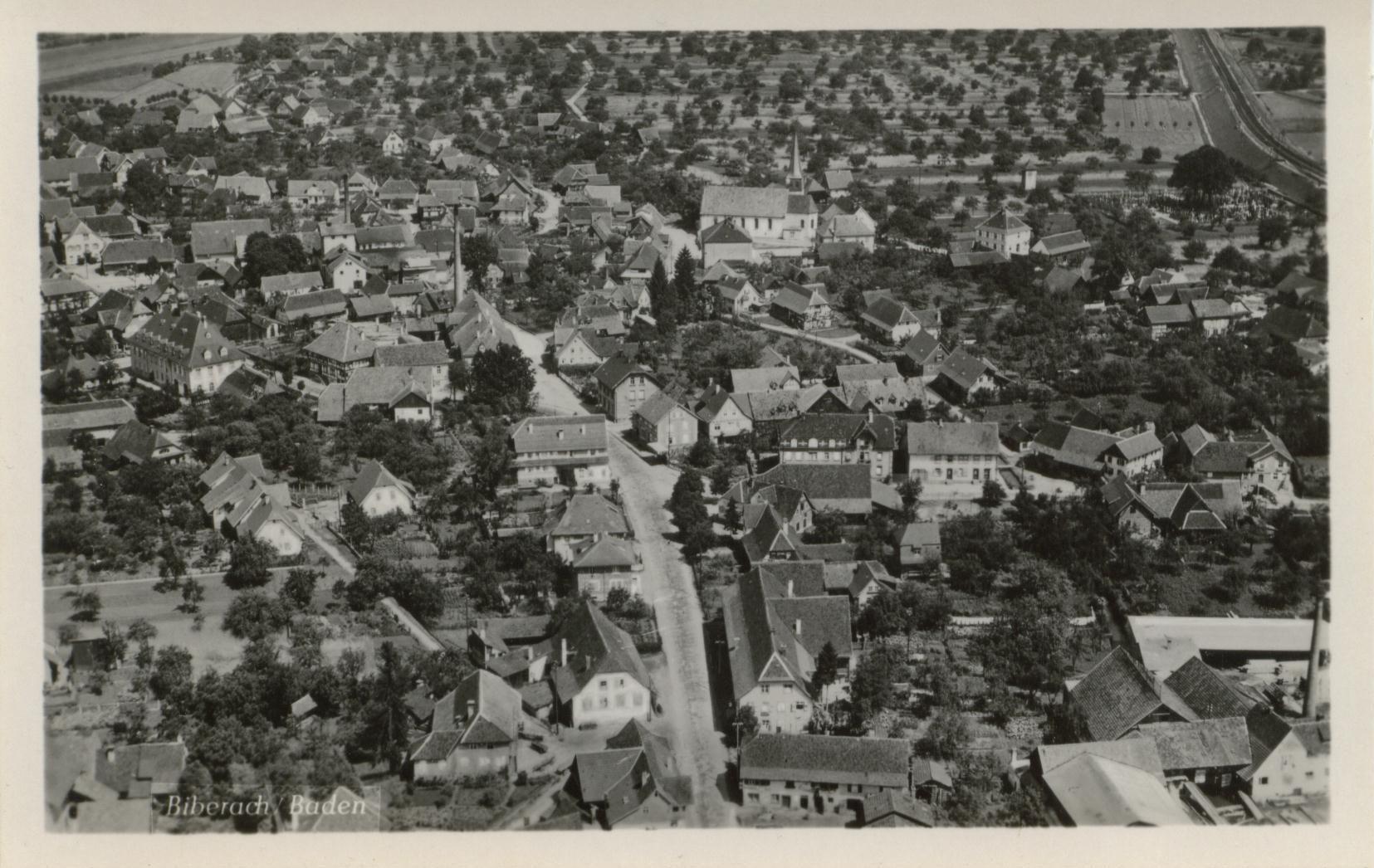 Postkarte Biberach vor 1930