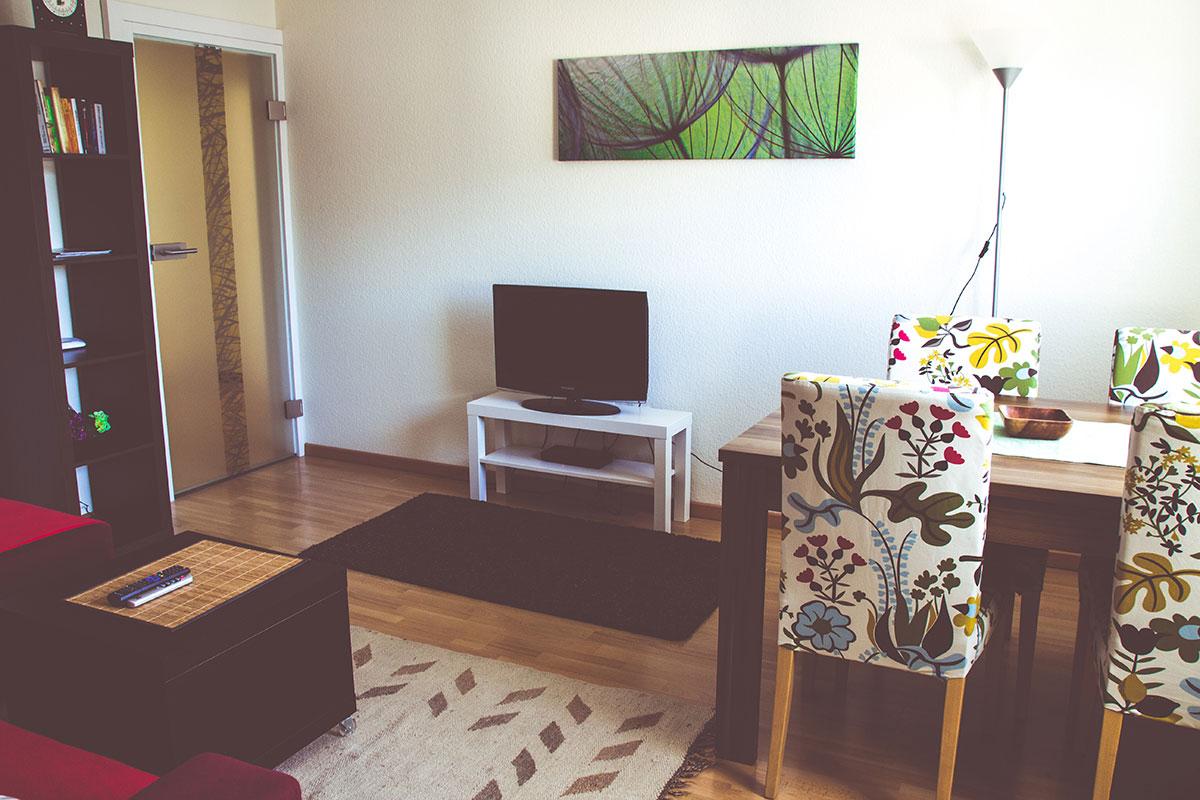 Wohnzimmer Ferienwohnung Geroldseckblick