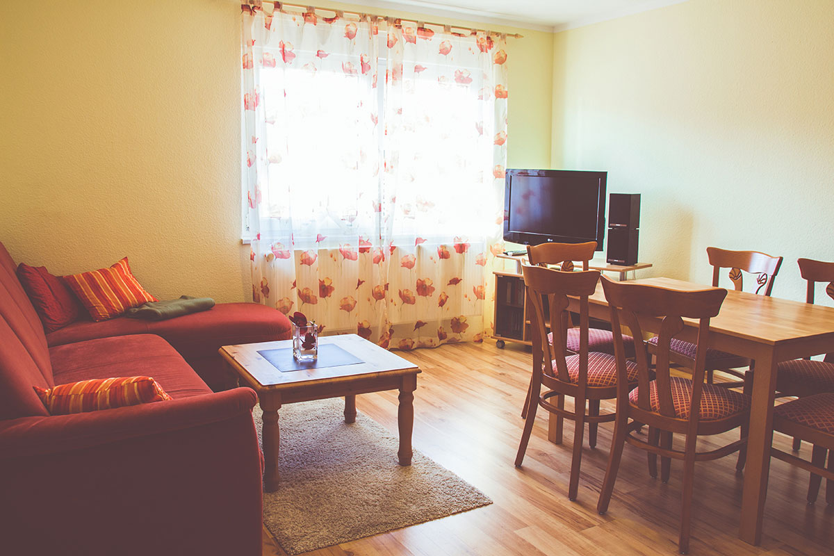 Wohnzimmer Ferienwohnung Kreuzstube
